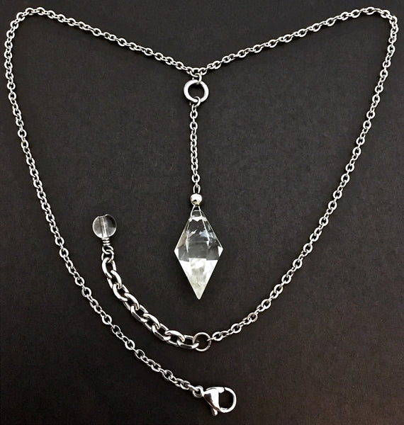 Herkimer Diamond Energy Healing Crystal Reiki Choker Y Necklace - Spiritual Diva Jewelry