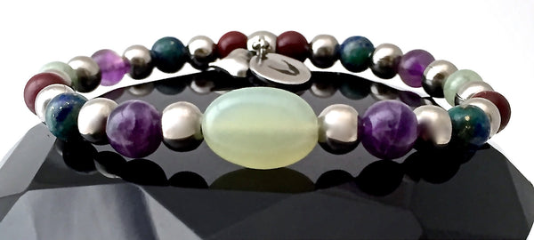STRENGTH Grief depression Healing Crystal Reiki Angel Stretch Bracelet - Spiritual Diva Jewelry