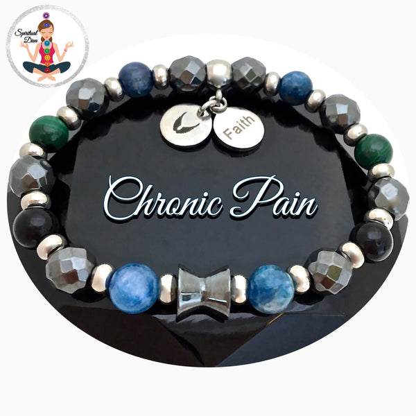 Chronic Pain Relief Healing Crystal Reiki Angel Gemstone Charm Bracelet - Spiritual Diva Jewelry
