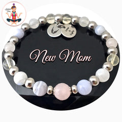New Mother Baby Energy Healing Crystal Reiki Angel Gemstone Bracelet - Spiritual Diva