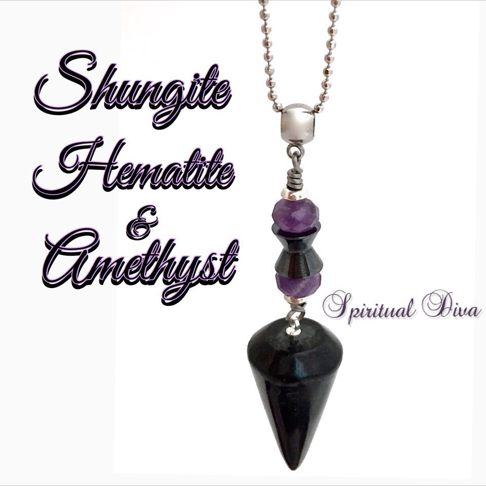 crystal products img spiritual necklace gemstone jewelry energy shungite healing pendant reiki choker diva