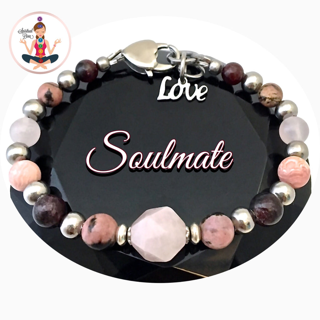 Soulmate Attract Love Energy Healing Crystal Reiki Gemstone Bracelet - Spiritual Diva Jewelry