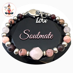 Soulmate Love Healing Crystal Reiki Gemstone Adjustable Bracelet - Spiritual Diva Jewelry