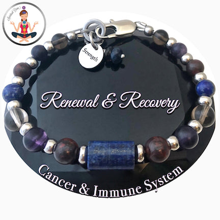 Cancer Immune System Renewal Recovery Healing Crystal Reiki Gemstone Bracelet - Spiritual Diva Jewelry