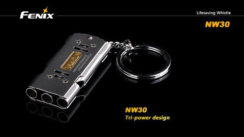 Fenix NW30 Three Chamber Emergency Whistle.  TSE # 10760.