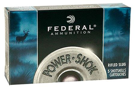 "Federal 12ga 3"" Mag 1-1/4oz Slugs 5Rnds"