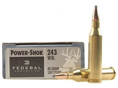 Federal PowerShok 243win 80gr SP  20/Box TSE#1738