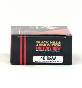 Black Hills Ammunition .40 S&W 155gr JHP - 20 Rounds TSE#17675
