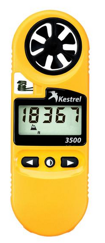 Kestrel 3500 Weather Meter.  Yellow.