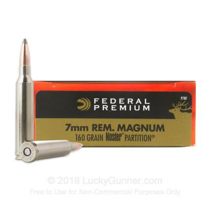 FED 7mm Rem Mag 160gr Nosler Partition Tip TSE#19947