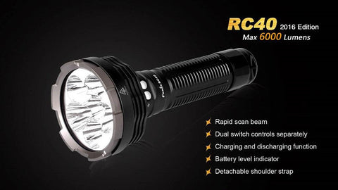 Fenix RC40 2016 Flashlight - 6000 Lumens TSE # 20068