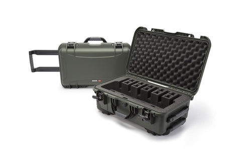 Nanuk 935 6up Pistol Case.  Olive.