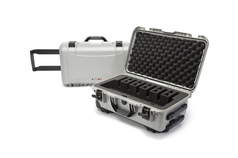 Nanuk 935 6Up Pistol Case.  Silver.
