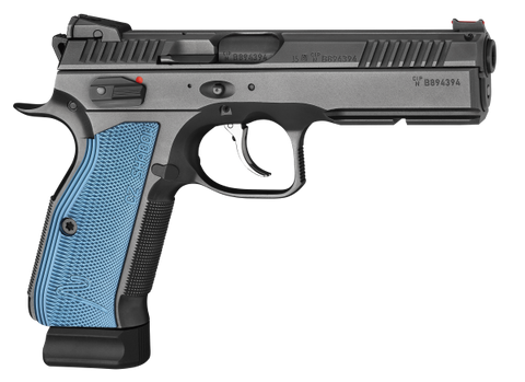 CZ Shadow 2.  9mm.  Black with Blue Grips.  TSE # 20770