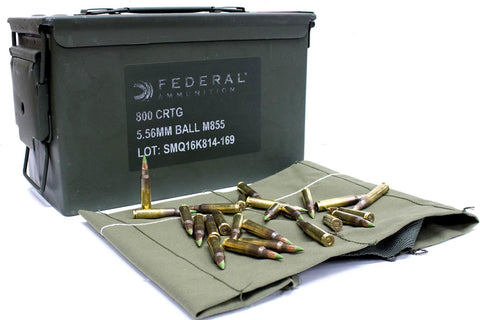 Federal 5.56mm 62gr Ball M855 - 800 Rounds in Ammo Can
