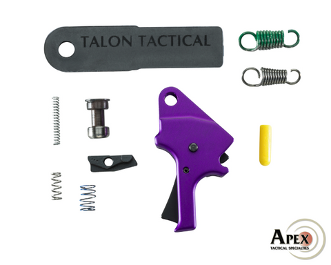 Apex Purple Flat Faced Trigger Kit for S&W M&P Pistols.  TSE  # 21800.