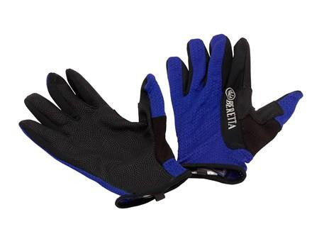 Beretta Mesh Shooting Gloves.  Blue Total Eclipse.
