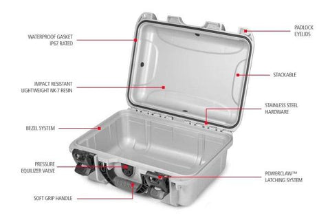 Nanuk 920 Hard Case, Pick & Pluck Foam, Graphite.  TSE # 23080.