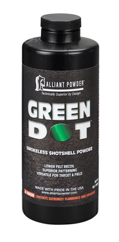 Alliant Powder - Green Dot Smokeless Powder, 1lbs.  TSE#23125.