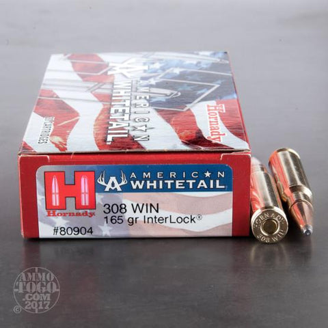 Hornady 308 Win 165gr Interlock TSE# 23485