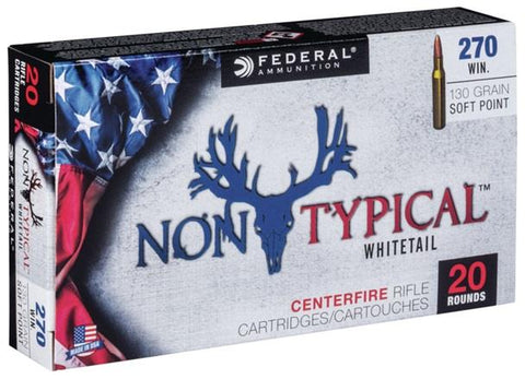 Federal Ammunition 270 Win 150gr SP 20/Box Non-Typical Whitetail TSE#24715