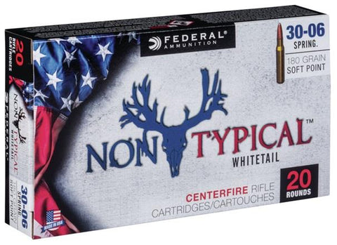 Federal Ammunition 30-06 180gr SP 20/Box Non-Typical  Whitetail TSE#24717