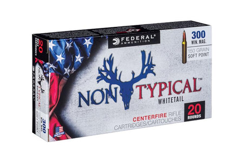 Federal Ammunition 300 WM 150gr SP 20/Box Non-Typical  Whitetail TSE#24719