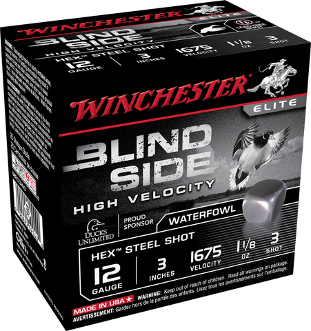 "Winchester Blind Steel 12GA 3"" #3 1-1/8 oz 1675 FPS TSE#24743 The Shooting Edge Calgary Alberta"