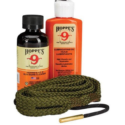 Hoppe's 1.2.3. Done! Cleaning Kit 30 Caliber Rifle Boresnake, Oil, Solvent TSE#24754 The Shooting Edge Calgary Alberta