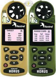 0845NV Tan Kestrel Wind Meter 4500NV - Tan w/ NV backlighting