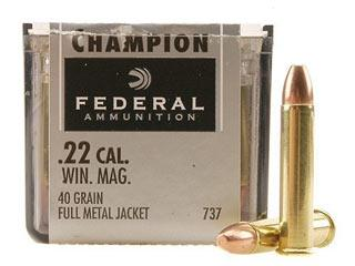 Federal Champion .22Win Mag 40gr FMJ - 50/Box TSE#3084