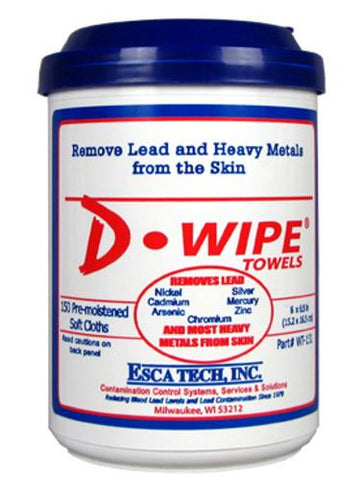 Esca Tech D-Lead Wipes 150 Cloths Single Canister TSE#3393 The Shooting Edge Calgary Alberta