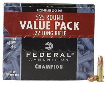 Federal Champion .22LR 36gr. HP Value Pack - 525/Box TSE#3418