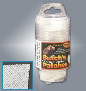 "Butch's Twill Cleaning Patches.  3"" Square.  TSE#3520 The Shooting Edge Calgary Alberta"