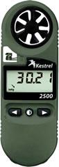 0825NV Kestrel Wind Meter 2500NV - Green w/ NV backlighting