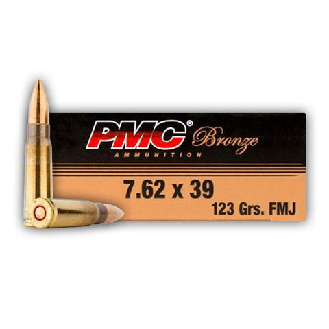 PMC 7.62x39 123gr FMJ 20 Rounds TSE#4567 The Shooting Edge Calgary Alberta