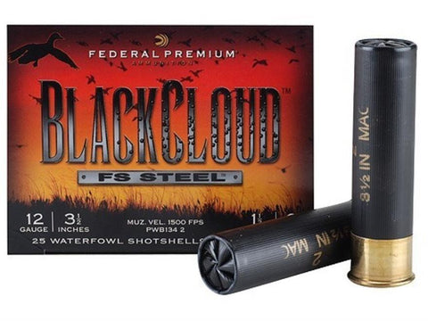 "Fed 12ga Black Cloud 3-1/2"" #2 Shot TSE#5268"
