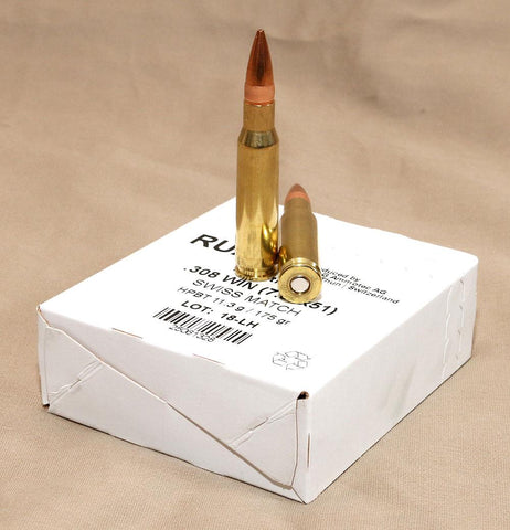 RUA .308 Win Swiss-P Match 175gr  200rds    TSE# 7651