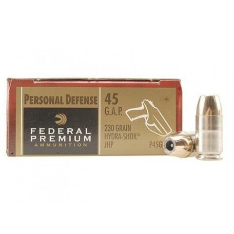 Federal 45GAP 230Gr Hydra Shock JHP 20 Rnds TSE#8075