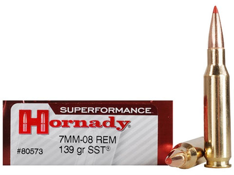 Hornady 7mm-08 139gr SST Superformance TSE# 9878