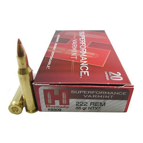 Hornady 222Rem 35gr NTX Superperformance 20Rnds