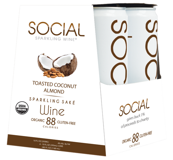 SOCIAL Toasted Coconut Almond 4-Pack