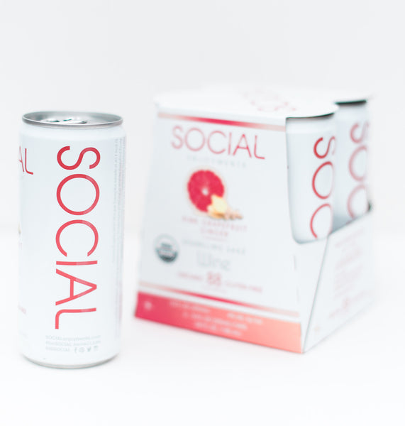 SOCIAL Pink Grapefruit Ginger 4-Pack