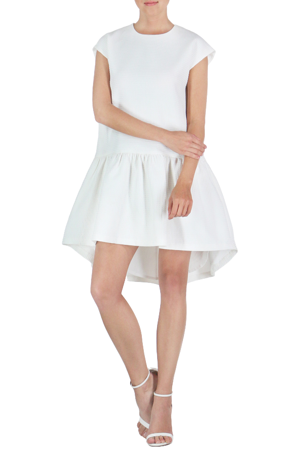 High-Low White Dress - Seven Oaks