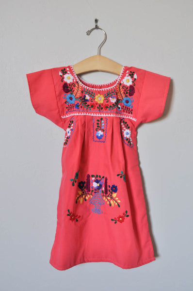 Embroidered Floral Dress - Toddler