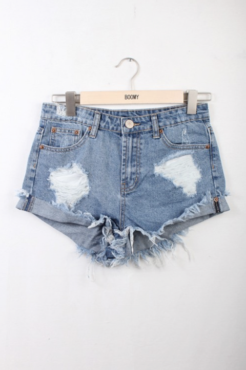 Austin Distressed Denim Shorts - Seven Oaks