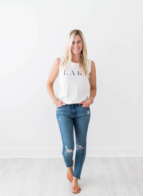 Lake Tank Top - White - Seven Oaks