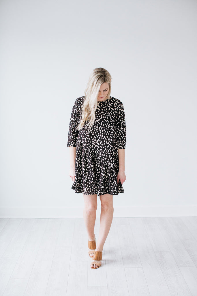 Amelia Swing Dress - Black