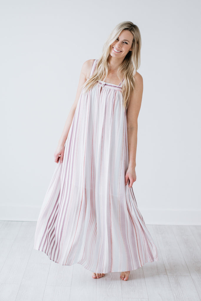 Lily Striped Maxi Dress