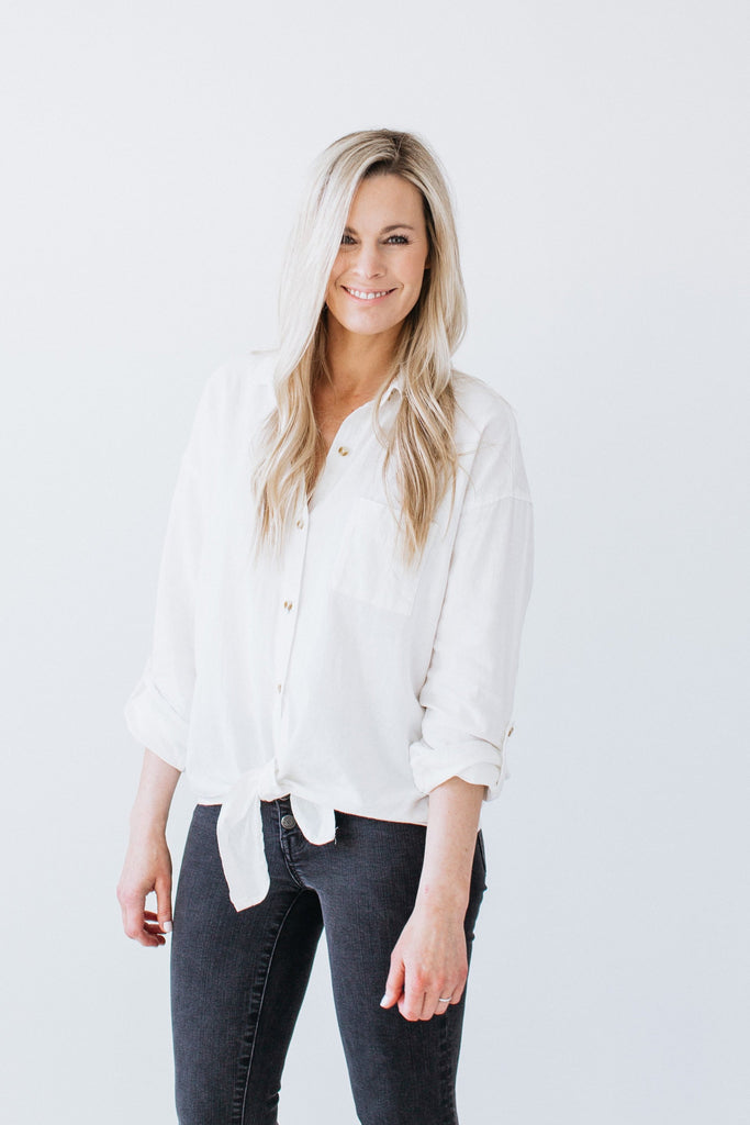 Margot Button Down - Cream
